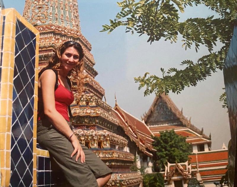 Barbara Panetta during a trip to Thailand