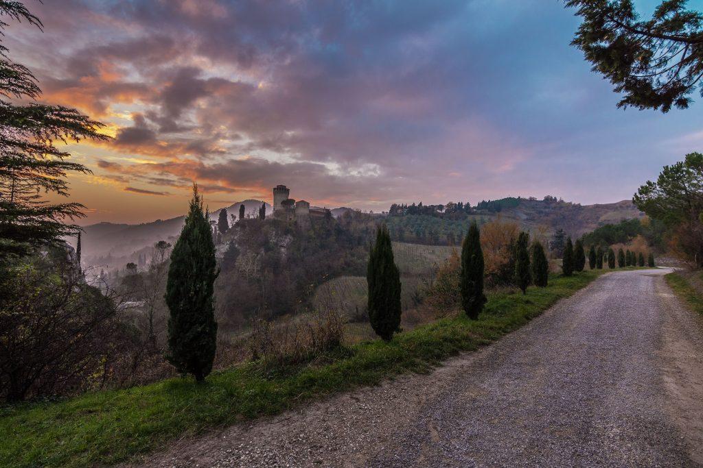 Brisighella -  Panorama con la Rocca Manfrediana sullo sfondo.