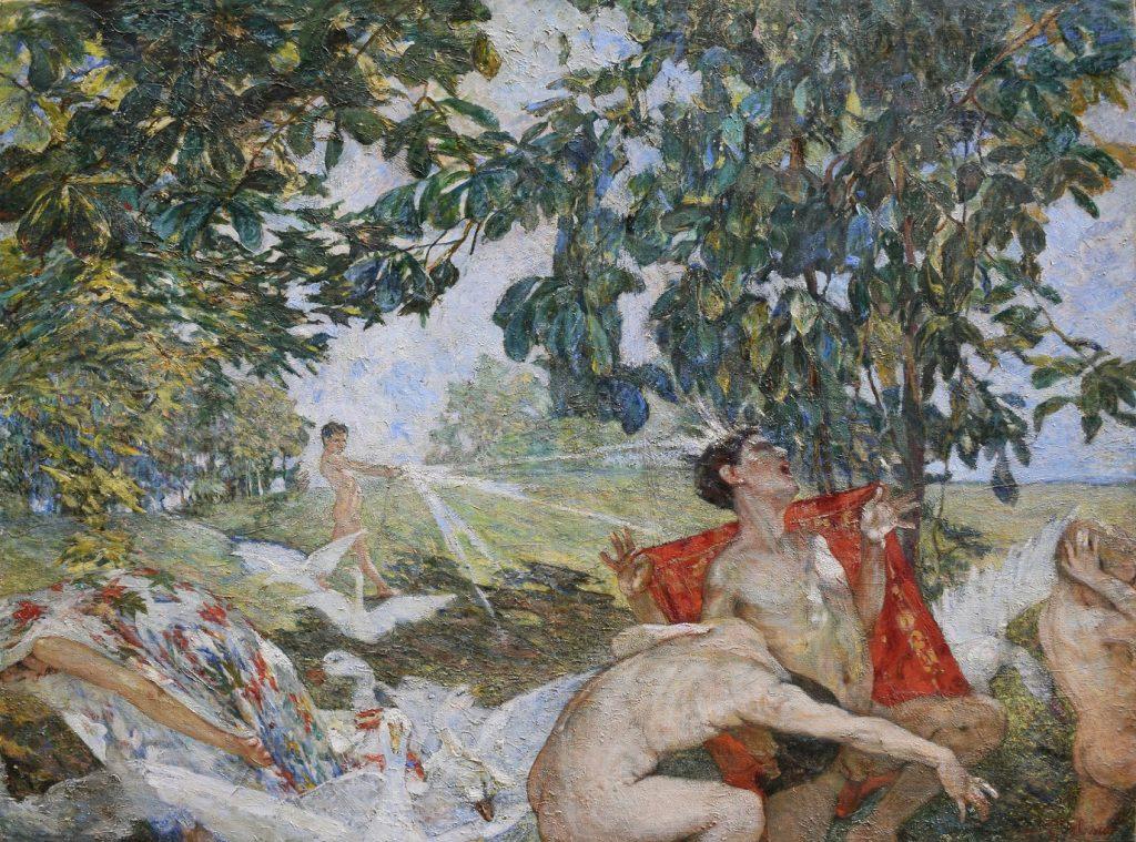 CARLA CELESIA DI VEGLIASCO-Acqua e sole olio su tela 1912 lgt