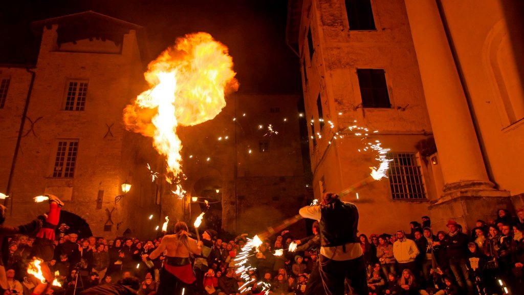 Festa popolare a Triora
