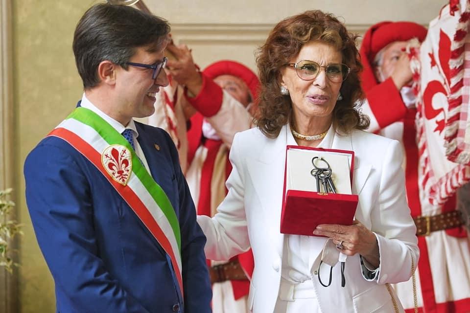 loren con il sindaco nardella