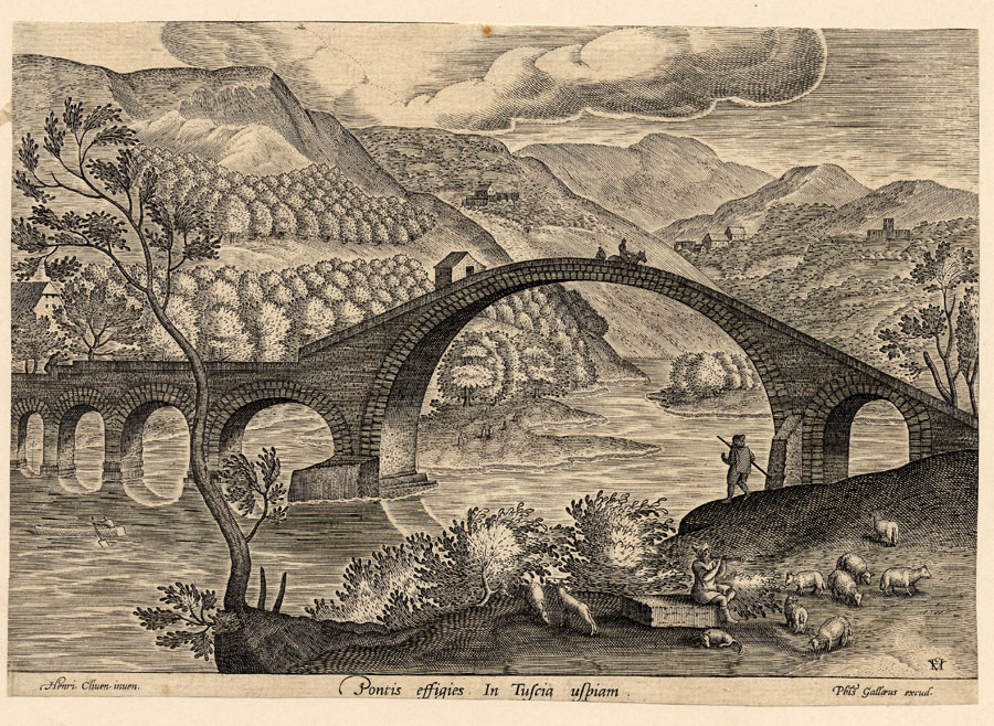 Ponte della Maddalena - Incisione del XVI secolo