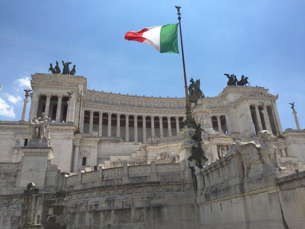 L'Altare della Patria, bandiera