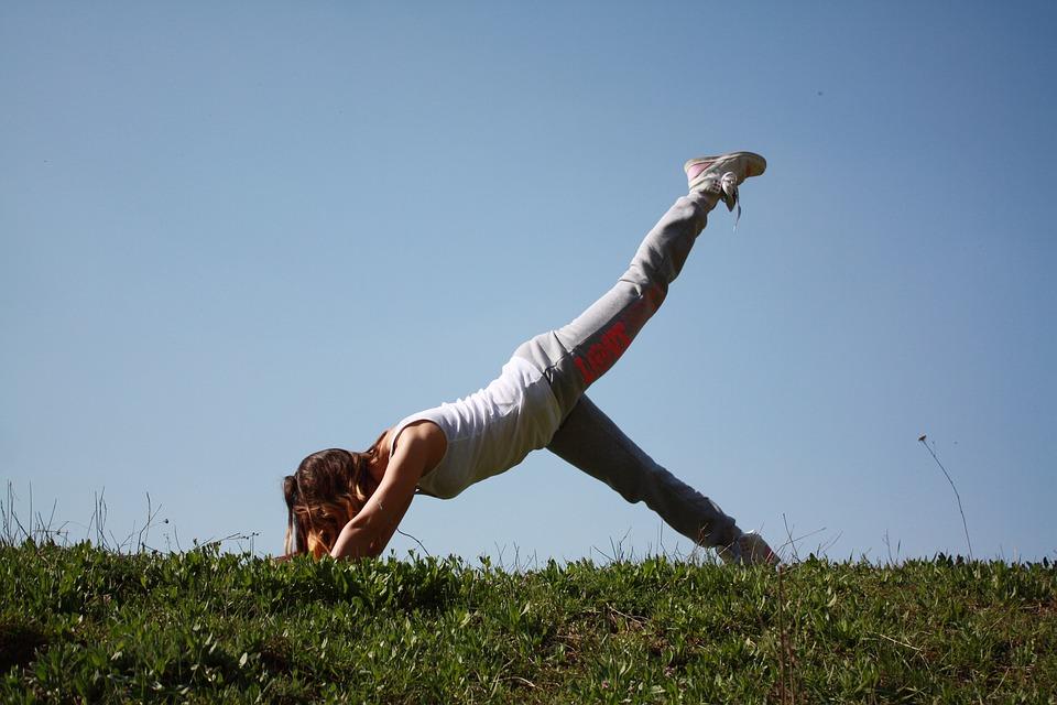 Giornate dell'Euphorìa - ragazza che fa ginnastica