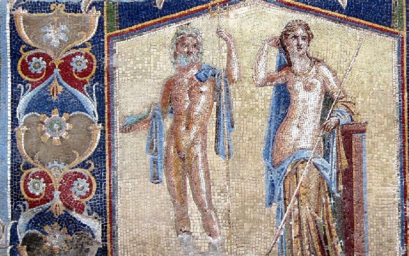 Ercolano, mosaico