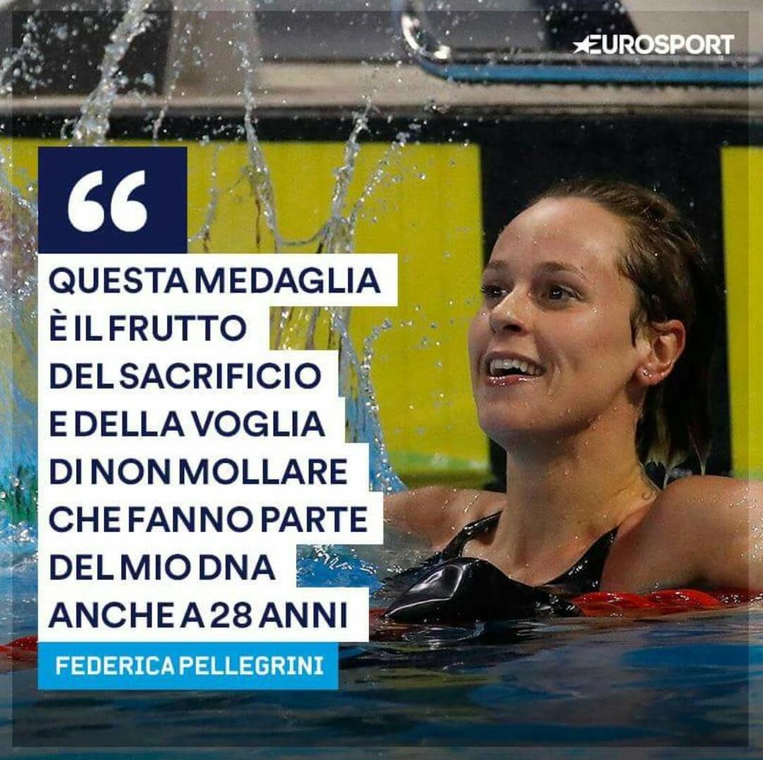 Federica Pellegrini immensa - la campionessa e le sue dichiarazioni