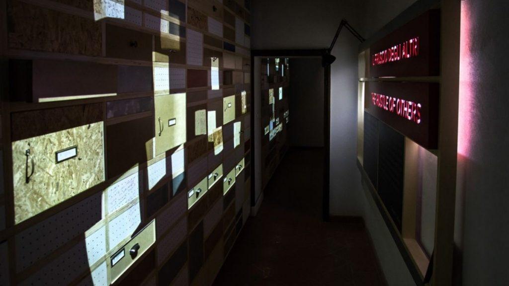 interno del piccolo museo del diario