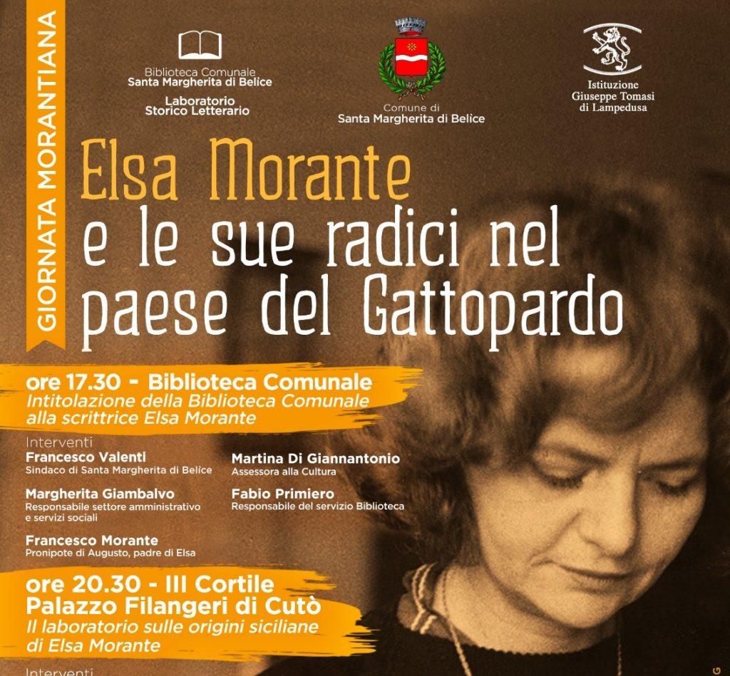 locandina Elsa Morante e le sue radici nel paese del Gattopardo