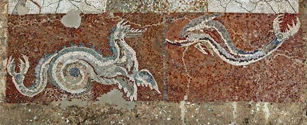 Il mosaico, particolare