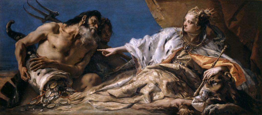 Giandomenico Tiepolo Venezia riceve da Nettuno le ricchezze del mare, 1756-1758