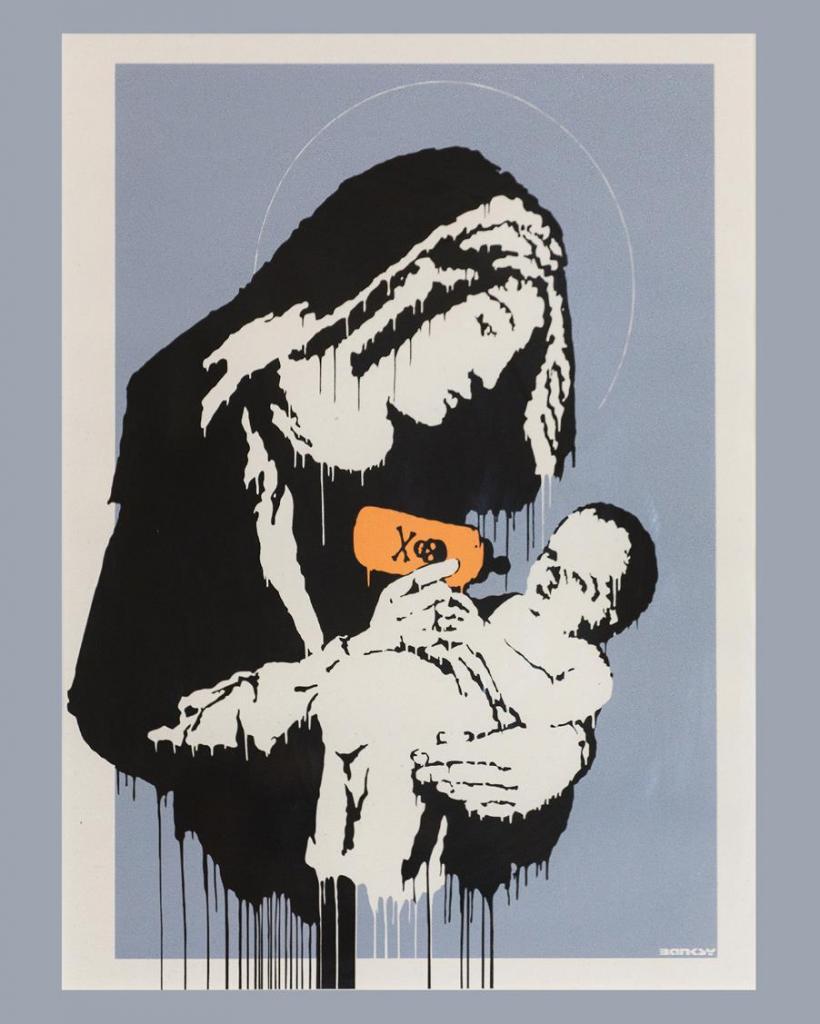 Banksy parma  - dipinto di Banksy