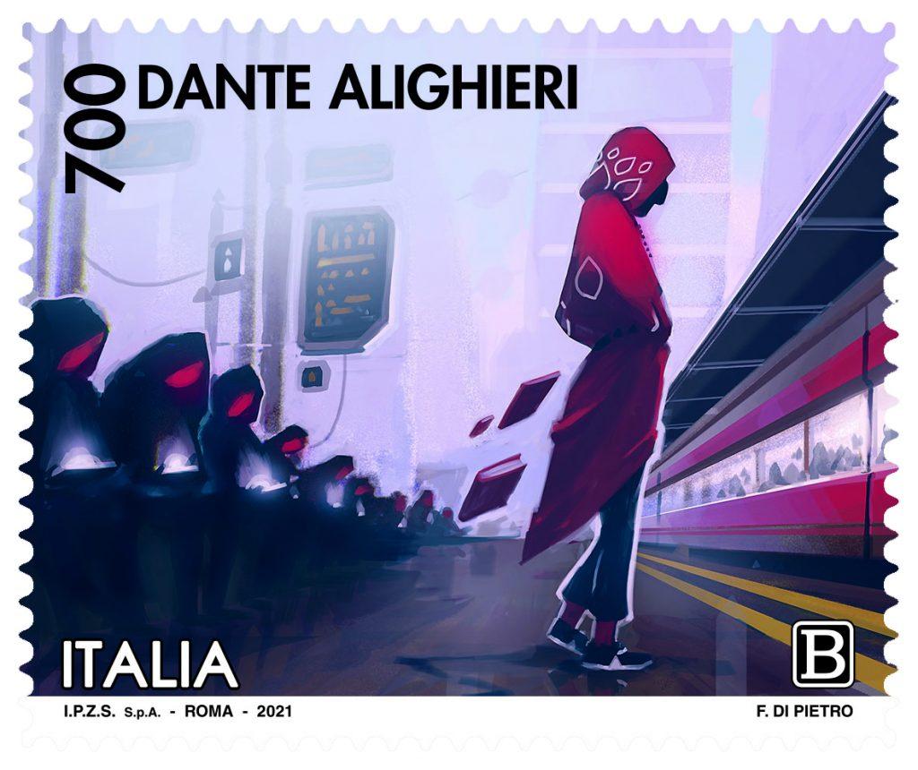 Francobollo Dante - Di Pietro