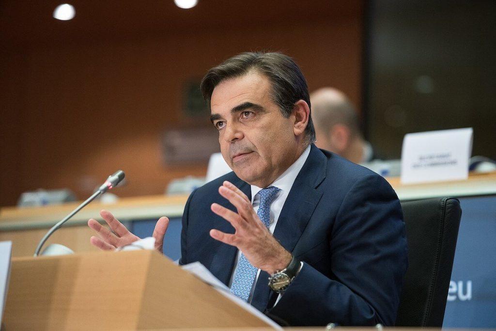 Travel ban - vicepresidente della Commissione Europea, Margaritis Schinas, durante un discorso al Parlamento europeo