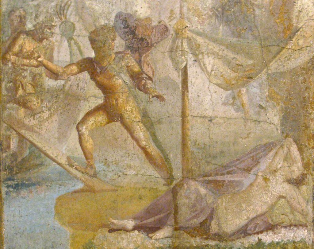 Modi di dire della lingua italiana - Teseo abbandona Arianna sull'isola di Nasso (affresco di Pompei).
