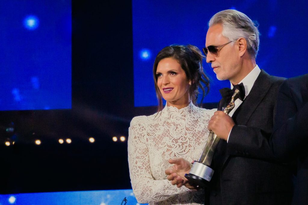 Andrea Bocelli premiato per la fondazione