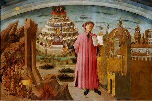XXI Settimana della lingua italiana nel mondo - Dante con la Divina Commedia, Domenico Michelino (duomo Firenze)
