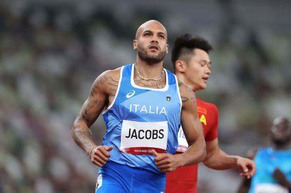 Miglior atleta dell'anno 2021 - Marcell Jacobs mentre corre a Tokyo 2020