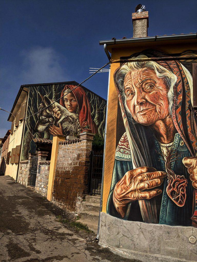 Sant'Angelo di Roccalvecce - Uno degli ultimi murales del borgo