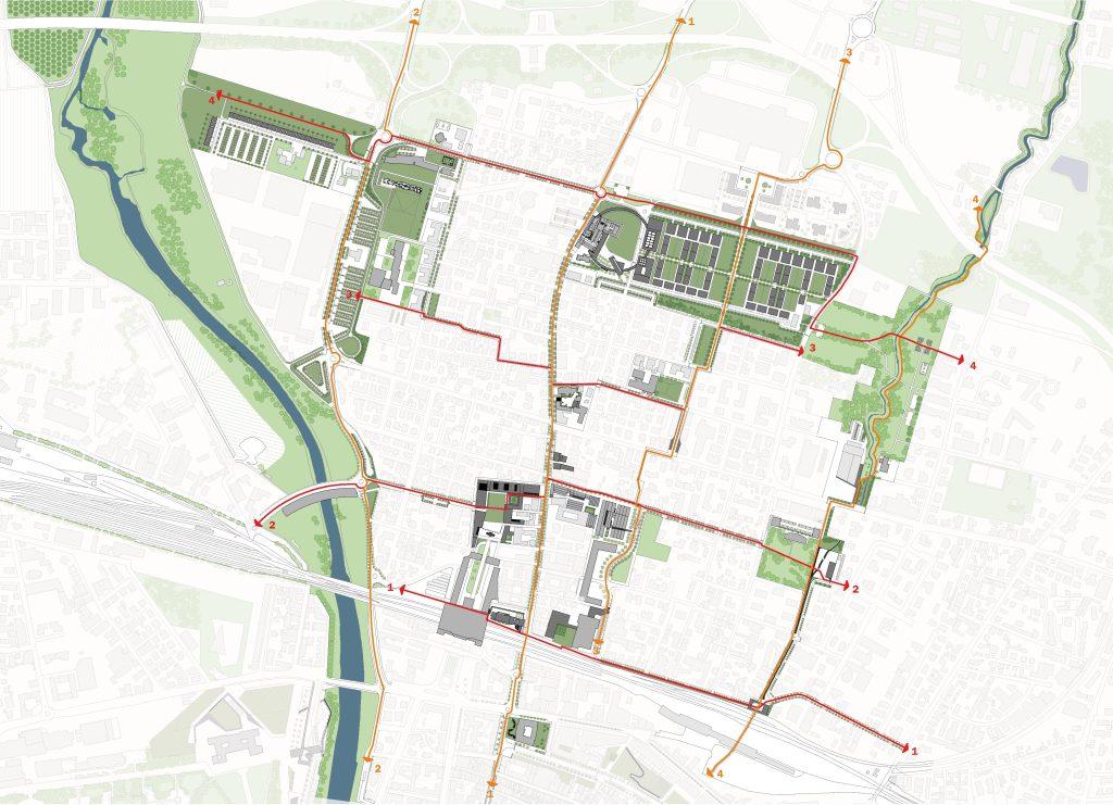 masterplan di San Leonardo cuore della città / progetti universitari per il quartiere
