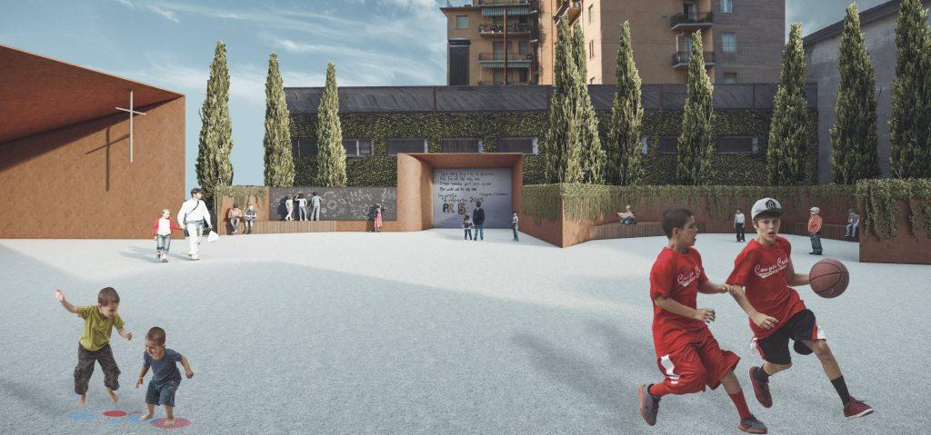 Sfida delle culture urbane - La rigenerazione architettonica e urbana degli spazi della parrocchia San Leonardo / progetto universitario
