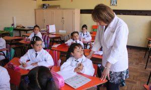 Sarmiento - Aula Con Alumnos Y Maestra