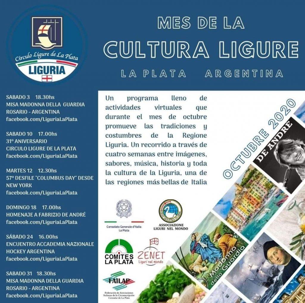 El mes de la cultura Ligure - Cronograma