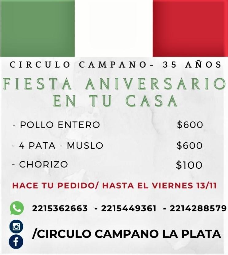 Circulo Campano de La Plata - Fiesta De Aniversario En Casa.