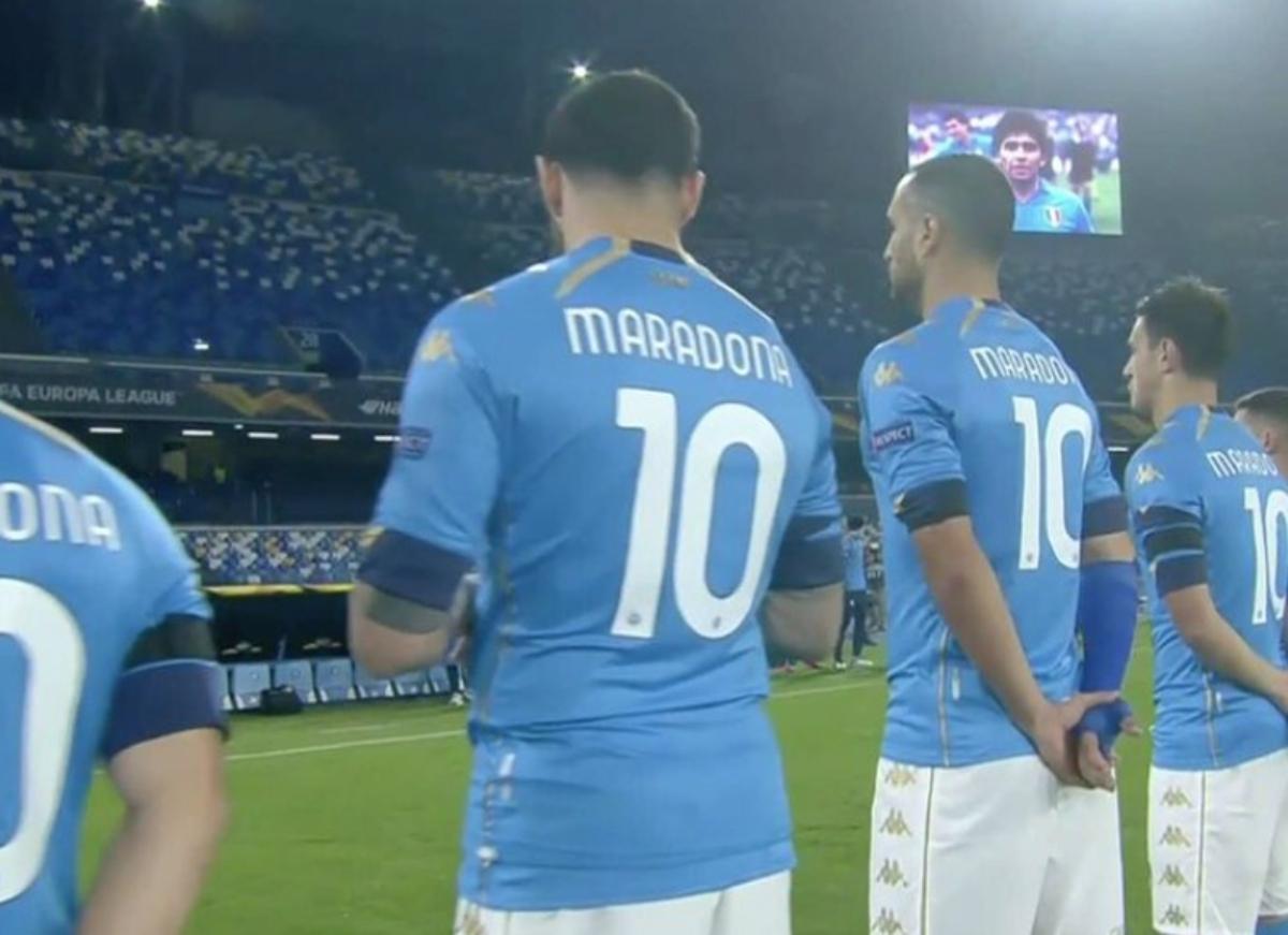 10 del Napoli - Homenaje a Maradona