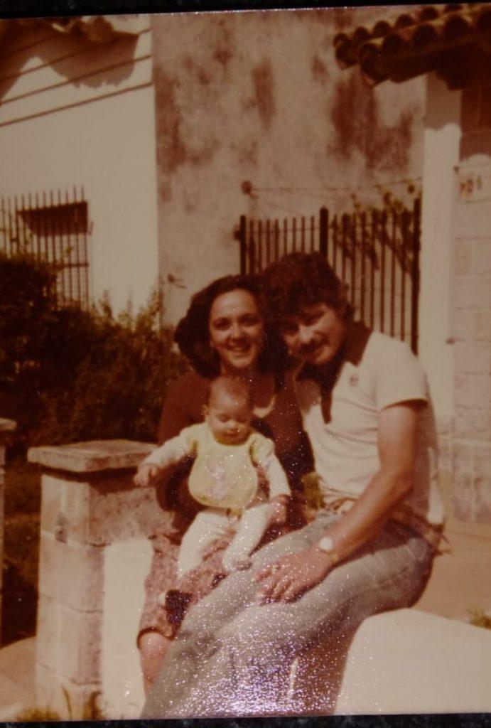 Luis Bardini - Junto a su esposa e hija