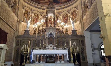 El altar mayor - Retablo