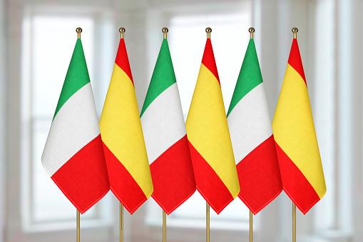 spagnoli e italiani - bandiere