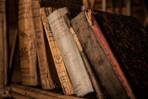 Día del Bibliotecario - libros viejos