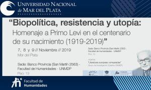 Primo Levi - Homenaje en la UNMDP.