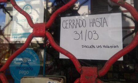 cuarentena en Mar del Plata - Calle Cartel Covid