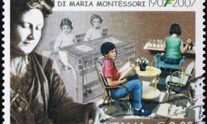 María Montessori - Estampilla Montessori