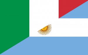 Inmigrante Italiano - Bandera Italia Y Argentina.