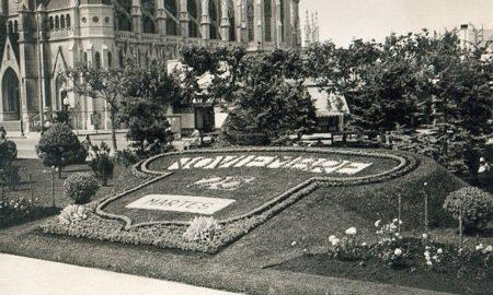 calendario floral - Foto antigua del calendario.