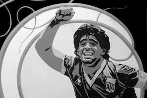Maradona - Ilustración de Maradona.