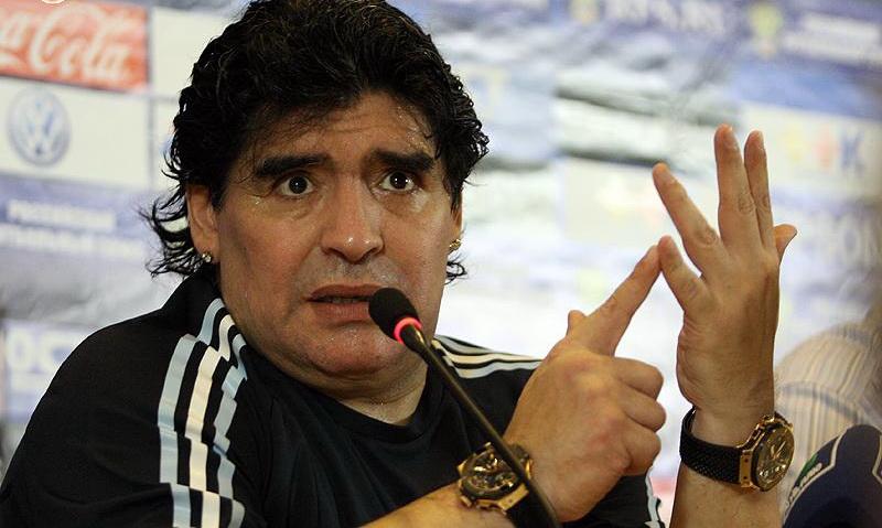 Maradona - Diego Maradona con la Selección Argentina.