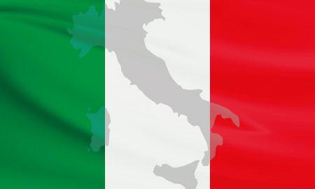 Becas de italiano - Bandera Y Mapa De Italia.
