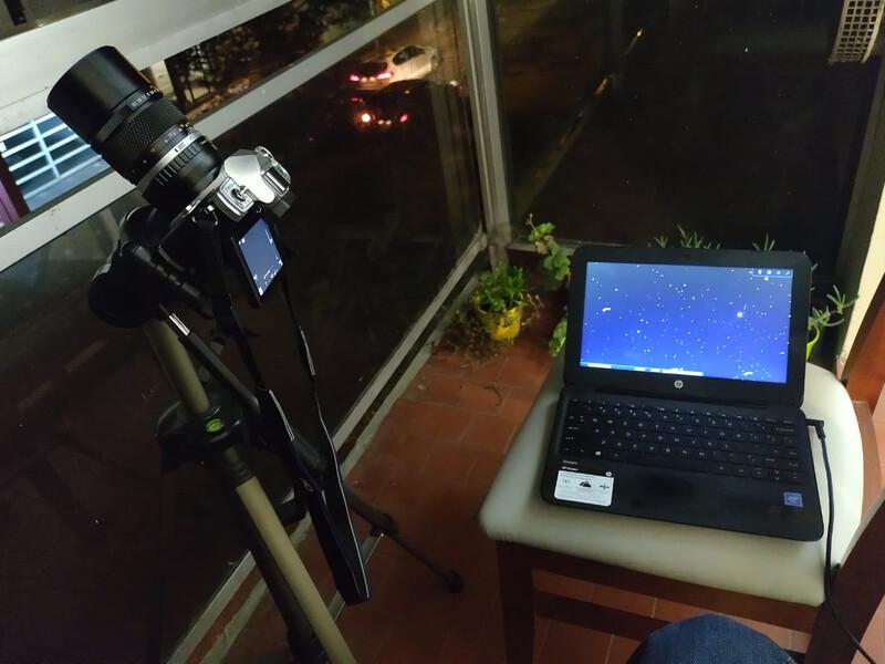 Astrofotografía - Balcón Y Cámara.