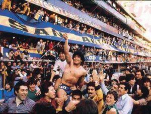 Diego Maradona - Maradona Celebrando En 1981.