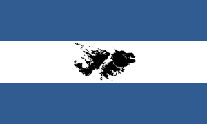 Malvinas - Bandera Argentina Con Las Islas Malvinas En El Centro