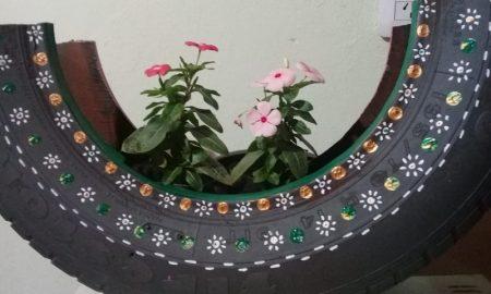 reciclar - Florero De Goma