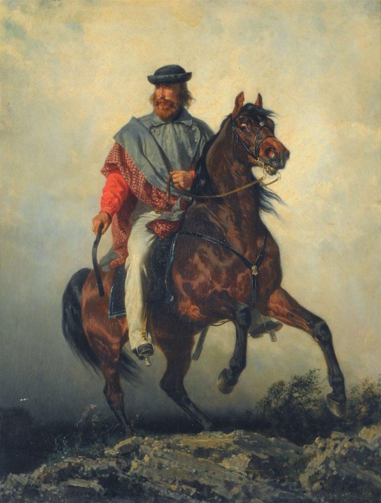 Garibaldi Retrato A Caballo