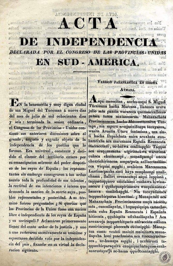 Independencia - Proclama