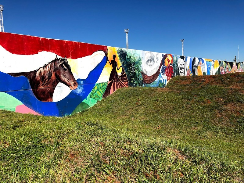 mural - Bandera