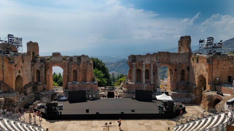 Teatro - escenario al aire libre en Province Messina Sicily Italy