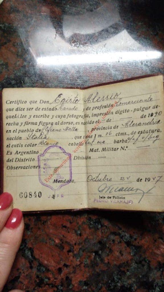 ciudadanía italiana - Identidad Alessio