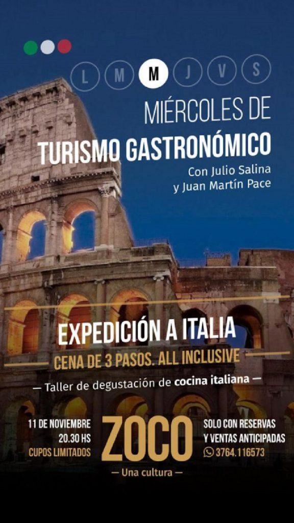 cocina italiana - Flyer Expedicion A Italia